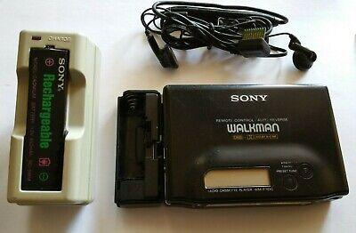 Vintage Sony WM-F701C Walkman Radio Cassette Player w/ BC-7F charger & headset