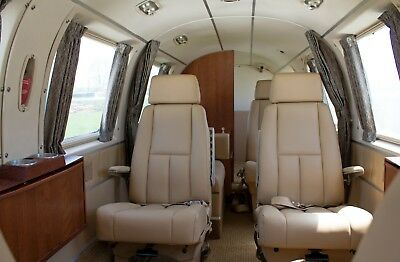 Beechcraft Duke custom leather interior