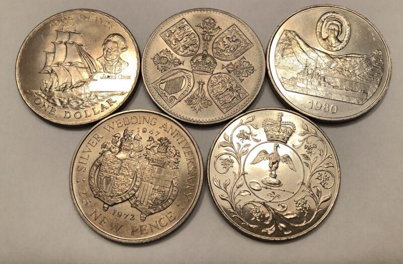 Lot Of 5 Queen Elizabeth 1960,70,72,77,80 St Helena Gibraltar New Zealand