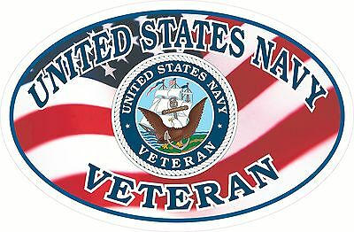 USA Flag  NAVY  Veteran Window Decal Bumper Sticker United States