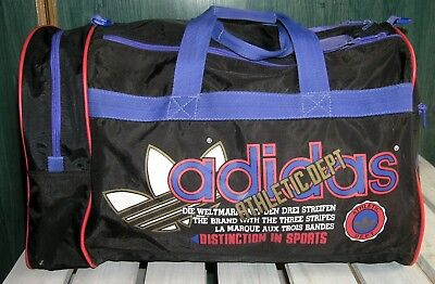 RARITäT vintage SPORT TASCHE ADIDAS Athletic Dept Duffle Bag Trefoil GYM  Travel 173b31d14d6ab