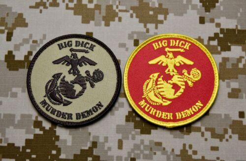 USMC Big Dick Murder Demon Uniform Patch Set DTOM MARPAT Marine Corps Semper Fi