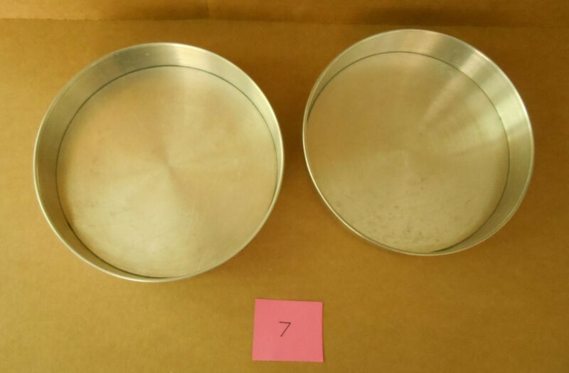 """Aluminum 9"""" Removable Bottom Round Cake Pans Lot of 2 Unbranded P7"""