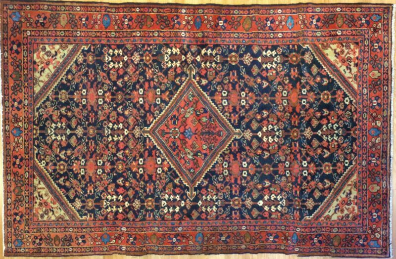 Tremendous Tribal - 1910s Antique Oriental Rug - Nomadic Carpet - 4.4 X 6.8 Ft.