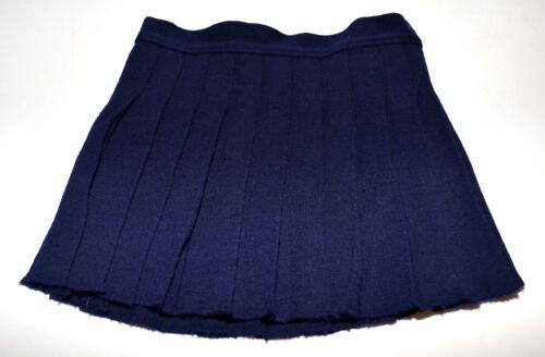 Vintage Windsor Woolies Navy Blue Pleated Toddlers Wool Skirt Size 4 England