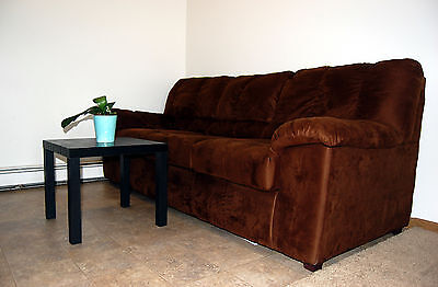 cloth sofa dark chocolate with arms three sets, for living room, clean