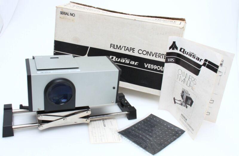 Quasar Film Tape Converter Model VE590UA With Box & Manual 376319