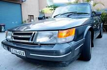 1989 Saab 900 TURBO Convertible low k's, leather, new roof. Byron Bay Byron Area Preview