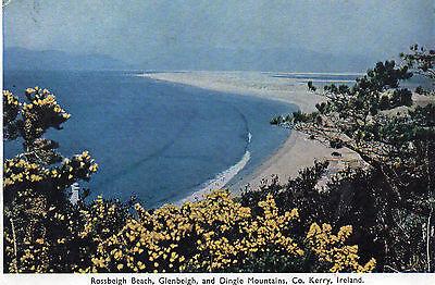 postcard Ireland  Rossbeigh Beach Glenbeigh Dingle Mountain  Co Kerry posted