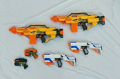 Nerf Gun Party Lot x2 Retaliator Elite x2 Stampede ECS x2 Nerf Dart Tag With Mag