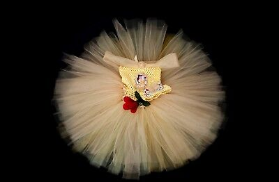 Princess Belle Disney Style Tutu Dress Age 4-5 Handmade for every purchase