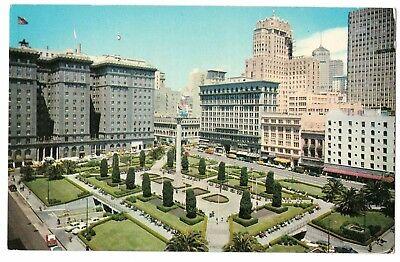 Union Square San Francisco California Vintage Postcard Nov17