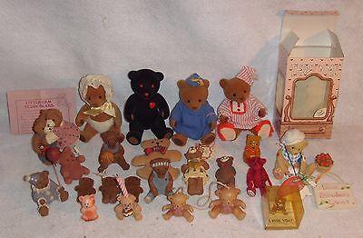 Lot of 23 Miniature Teddy Bears - Mini Bear Collection