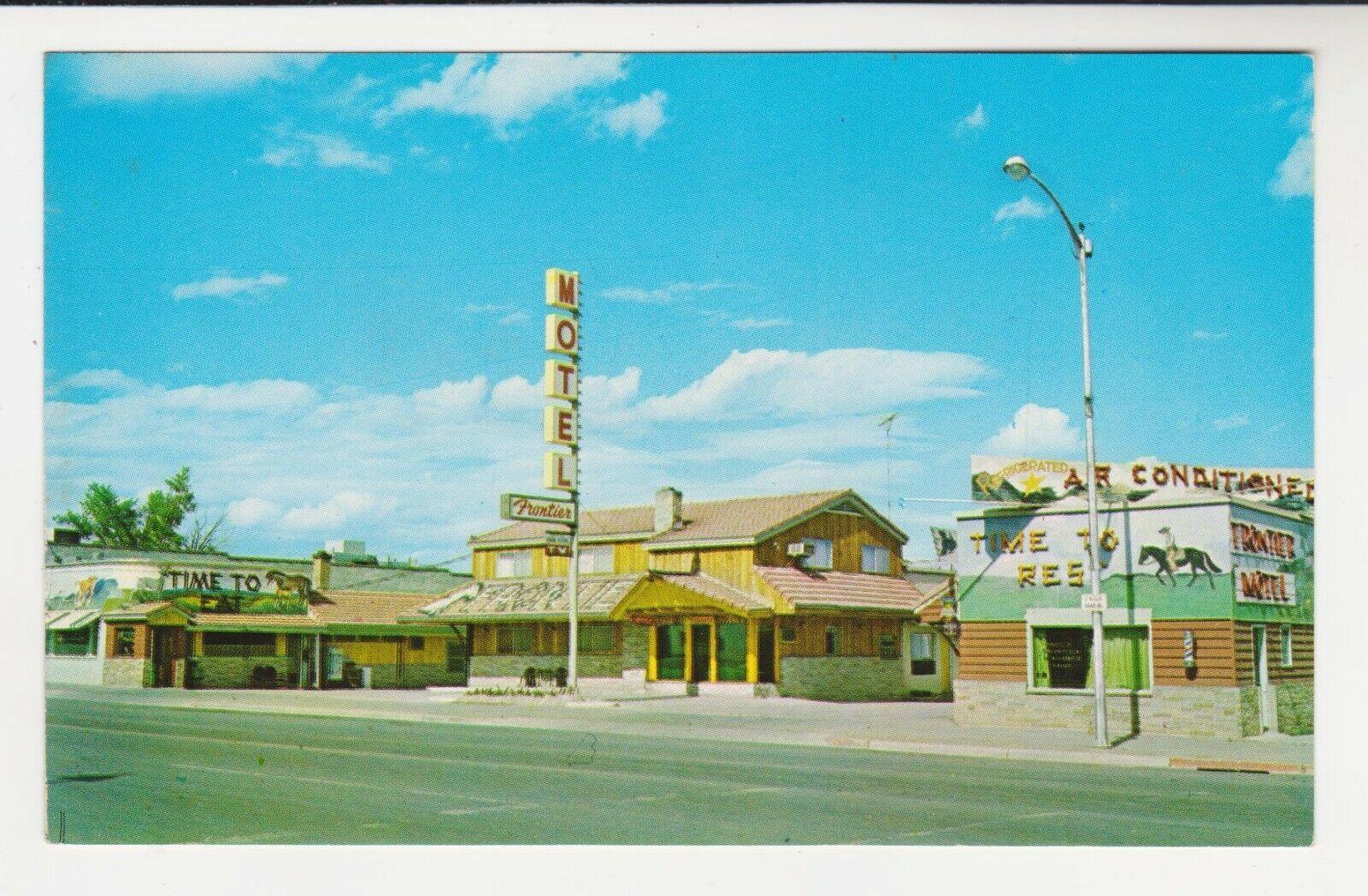 THE FRONTIER MOTEL GRILL - ROOSEVELT, UTAH On U.S. 40 C. 1950s Postcard - $2.00