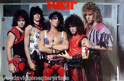 Ratt 22x34 Restroom Stall Group Poster 1984 Stephen Pearcy