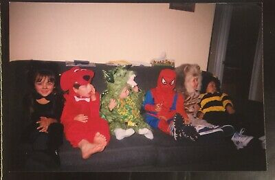 Vintage Photograph Young Toddlers Halloween Costumes Spider-Man Clifford 2003 A2 - Clifford Halloween Costume Toddler