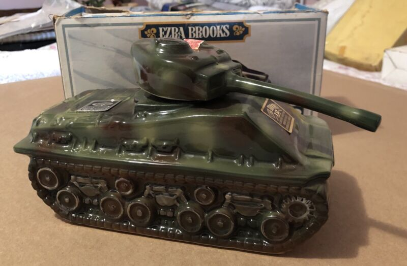 Ezra Brooks Real Sippin Whiskey Series, Military Tank w/Box!