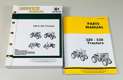 Service Parts Manual For John Deere 320 330 Series Tractor Repair Shop Set