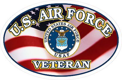United States Air Force Veteran FLAG Window Decal Sticker USAF