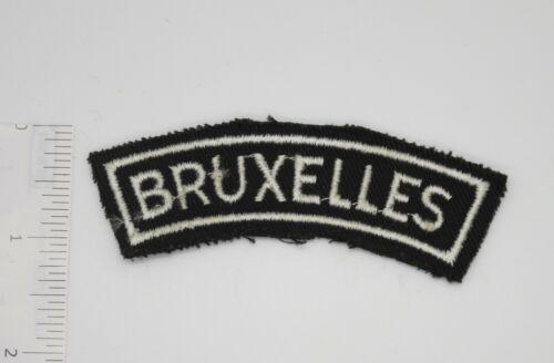 BRUXELLES BELGIUM BELGIAN POLICE Shoulder TAB PATCH Original Vintage Embroidered
