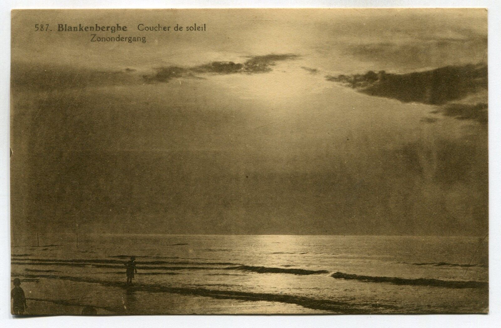 CPA - Carte Postale - Belgique - Blankenberge - Coucher de Soleil (SV6350)