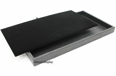 Jewelry Tray Display With Removable Velvet Pad Insert 14 X 8 X 1 - Black