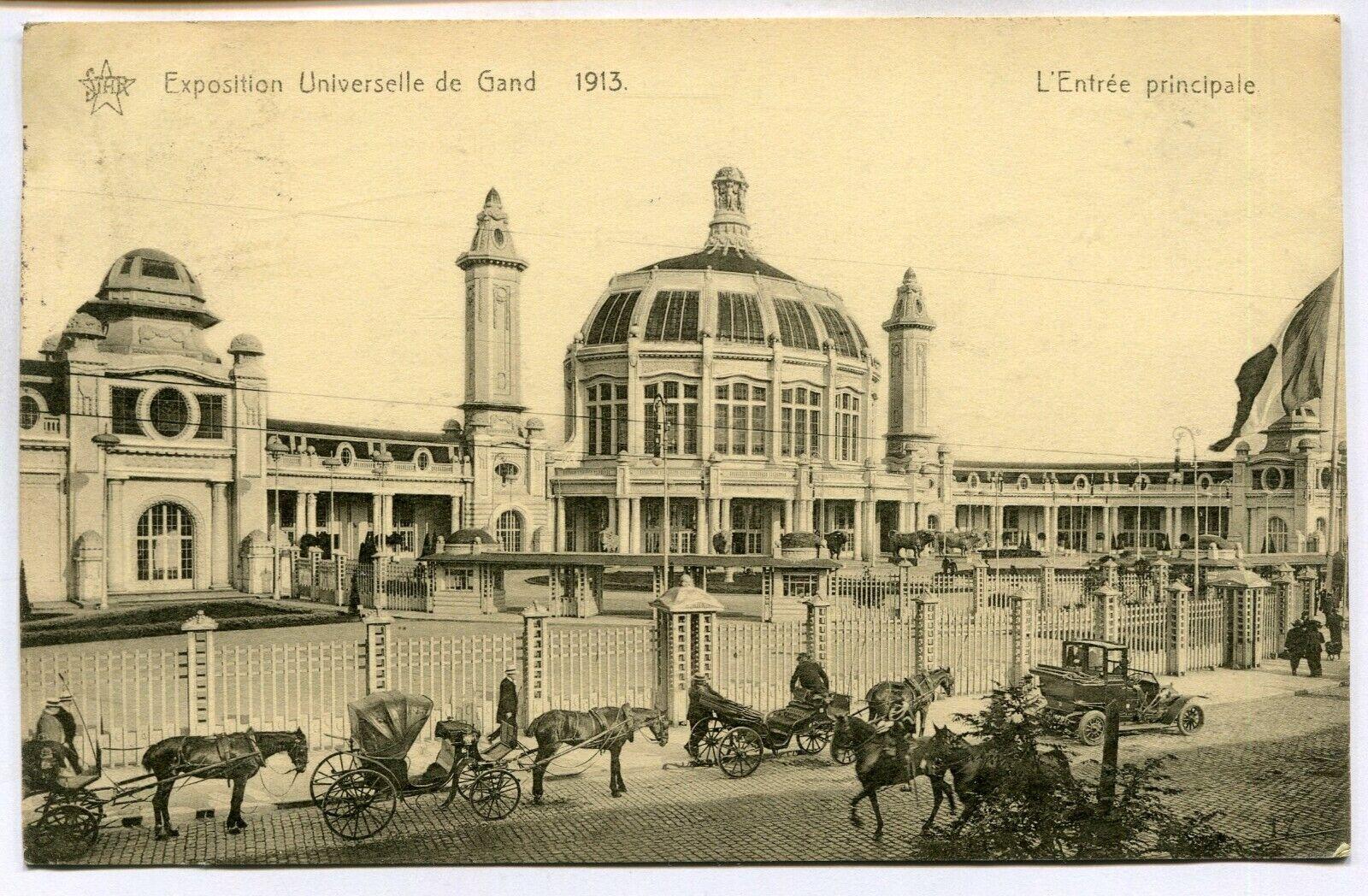 CPA - Carte Postale - Belgique - Exposition Universelle de Gand 1913 - L'Entrée
