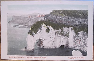 Irish Postcard Giants Causeway Ladies Wishing Rock Northern Ireland Ff Co Frith