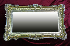 SPECCHIO-Renaissance-oro-argento-96x57-ANTICO-BAROCCO-squallido-Corridoio-REPRO