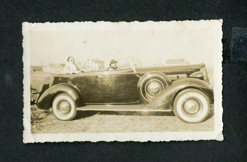 Vintage Car Photo 1937 Packard 120 Convertible Sedan 415122