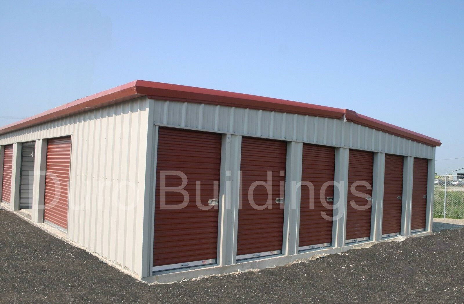 Duro steel 30x70x8 5 metal prefab self storage building for Prefabricated outdoor buildings