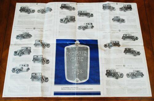 Morris 1932 full range brochure/poster Prospekt