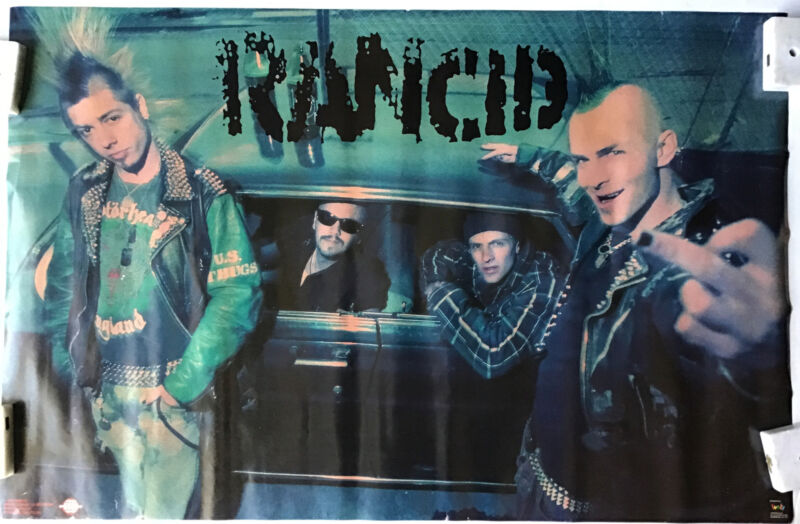 Rock Group Rancid Band Members Vintage Poster