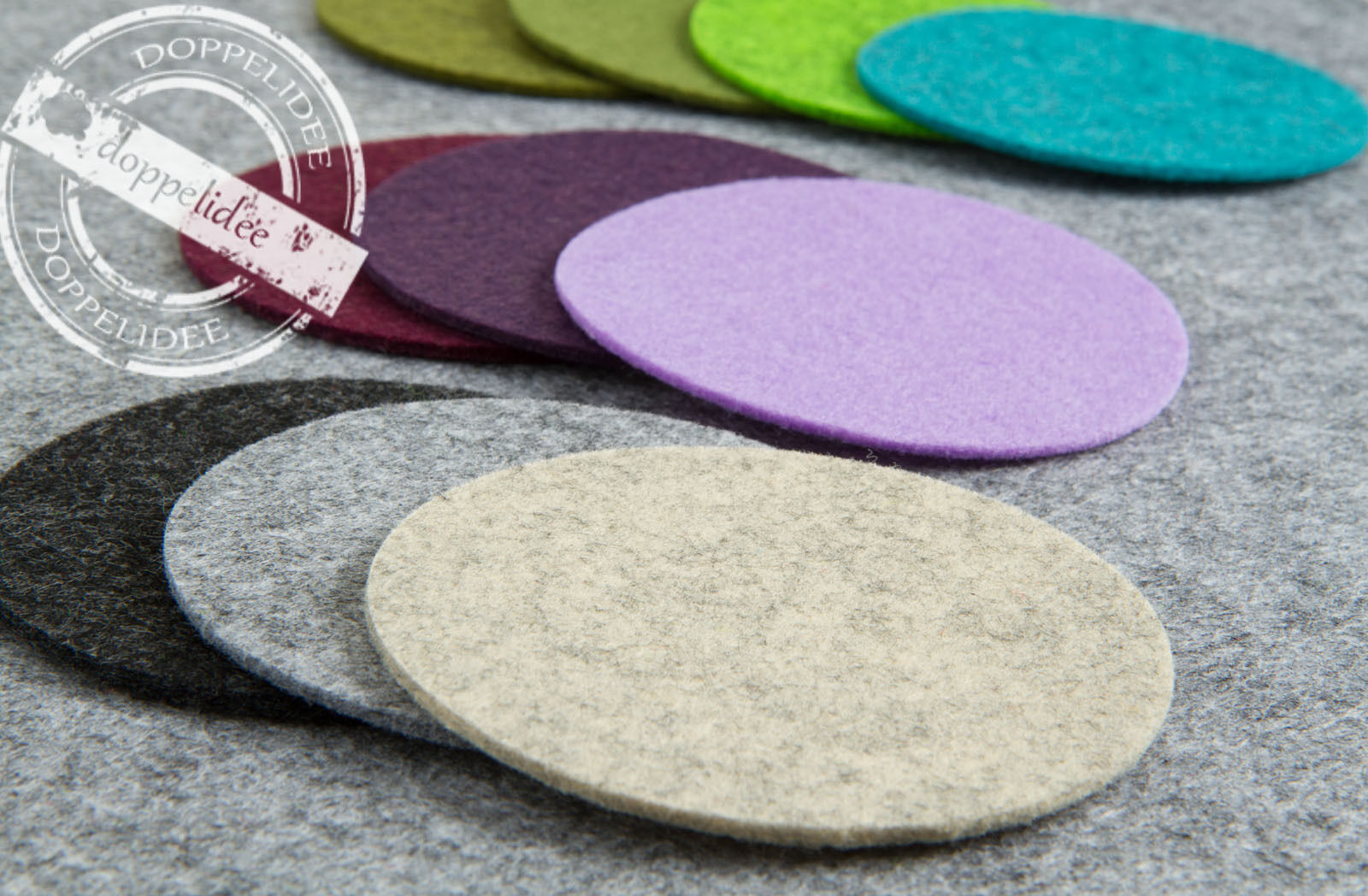 FILZ Untersetzer Tassenuntersetzer Platzset 10-15-20-25-35 cm / 34 Farben /