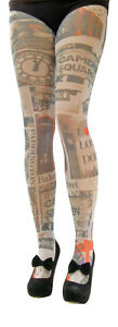 1-Pair-Flirt-Camden-Square-London-printed-Opaque-Tights-one-size