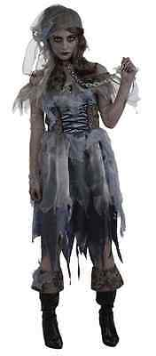 Pirate Wench Zombie Ghost Caribbean Girl Fancy Dress Halloween Adult Costume](Zombie Ghost Pirate Costume)