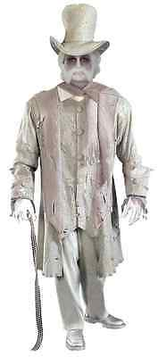 Ghostly Gentleman Ghost Spirit Victorian Fancy Dress Up Halloween Adult Costume - Gentleman Ghost Costume