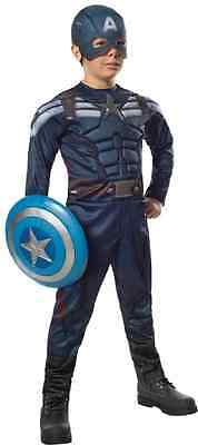 Captain America Stealth Marvel Superhero Fancy Dress Halloween Child - Captain America Stealth Costume