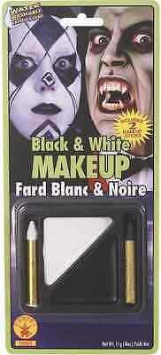 Black & White Makeup Kit Face Paint Fancy Dress Up Halloween Costume Accessory