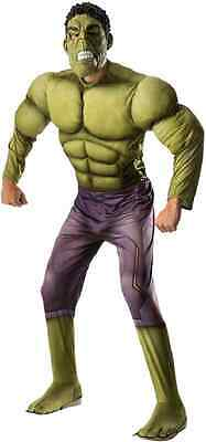 Hulk Marvel Avengers 2 Superhero Fancy Dress Up Halloween Deluxe Adult - Avengers 2 Deluxe Hulk Kostüm