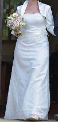 Brautkleid, Hochzeitskleid,  Kleemeier, 40, Ivory, Trägerlos, Neckholder Spitze