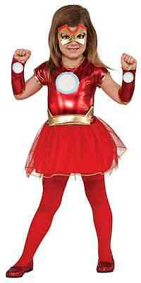 Lil Rescue Iron Man Marvel Superhero Fancy Dress Halloween Toddler Child Costume](Iron Man Costume For Girls)