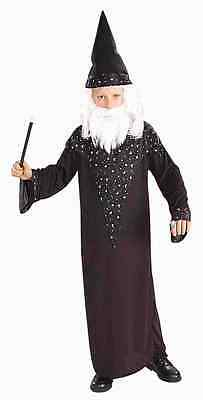 Wizard Merlin Sorcerer Magician Medieval Black Dress Up Halloween Child - Boys Wizard Costume