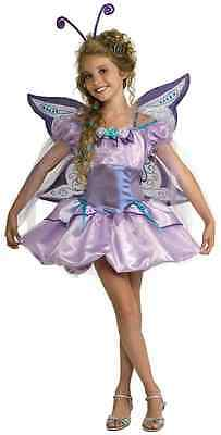 Butterfly Purple Fairy Pixie Princess Fancy Dress Halloween Tween Teen Costume