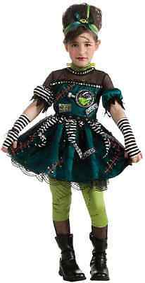 Frankenstein Girl Costume (Frankie's Princess Frankenstein Bride Girl Fancy Dress Halloween Child)