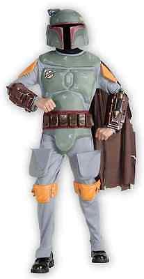 Boba Fett Star Wars Bounty Hunter Fancy Dress Up Halloween Deluxe Child Costume ()