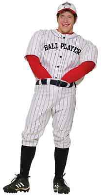 Professional Ball Player Baseball Sports Fancy Dress Halloween Adult Costume - Mens Baseball Halloween Costumes