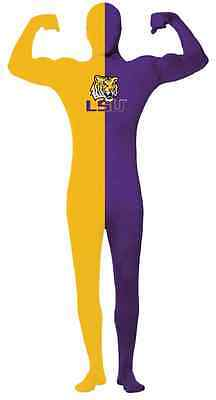 LSU Tigers SEC NCAA Sports Fan Game Day Fancy Dress Halloween Adult Costume - Halloween Sports Fan