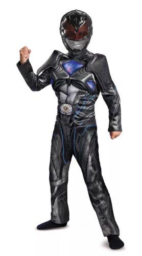 Child Halloween Costume Mask Black Ranger Power Rangers Muscle Bo