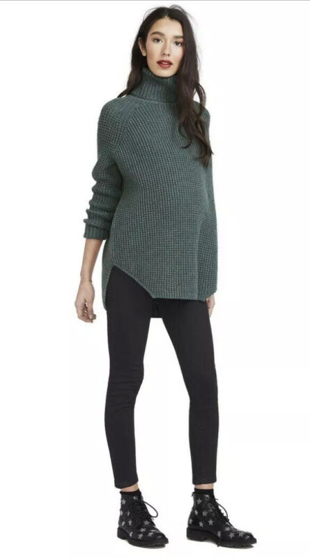 Hatch Maternity Women's THE WAFFLE TURTLENECK Merino Wool Size O/S (ONESIZE) NEW